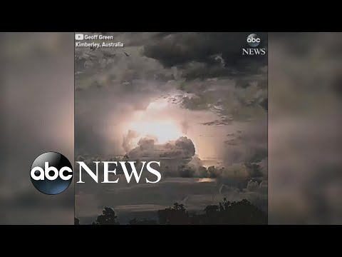 Transfixing electrical storm lights up Australian sky