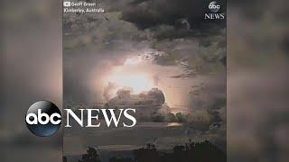 Transfixing electrical storm lights up Australian sky