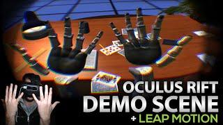 LeapDesk - Oculus Rift DK2 Demo Scene + Leap Motion