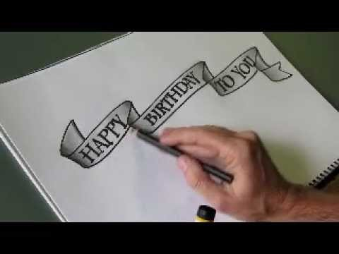 How To Draw An Easy Flowing Ribbon Shape For Your