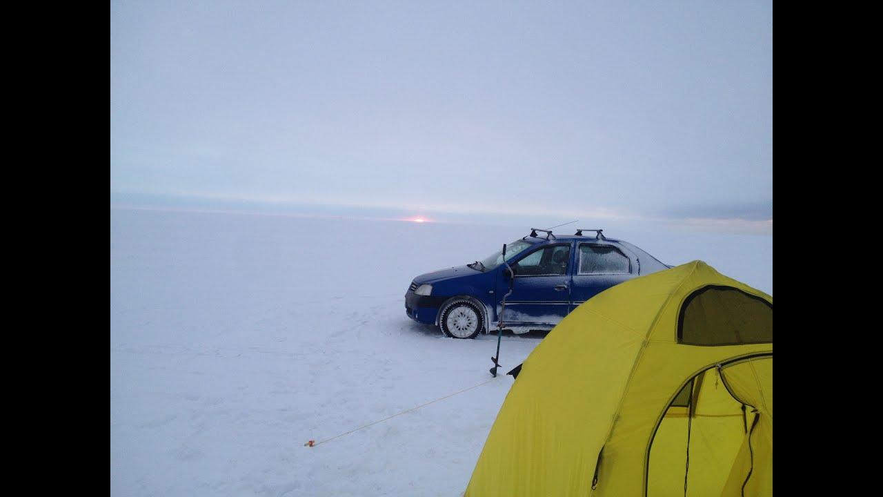 Зимняя рыбалка на машине