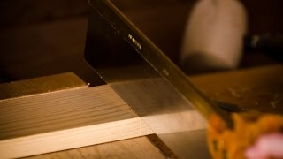 """How To Cut Tenon Shoulders {part 6 Of """"build A Dovetail Desk With Hand Tools""""}"""