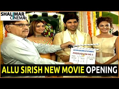 Allu Sirish New Movie Opening Video || Allu   Sirish,Surabhi,Seerath Kapoor, || Shalimarcinema