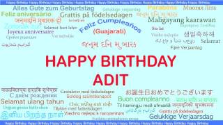 Adit   Languages Idiomas - Happy Birthday