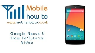 How To Turn Vibrate On & Off -  Google Nexus 5