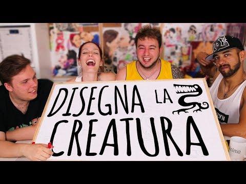 DISEGNIAMO la CREATURA con Sabri, Giulio & Peo