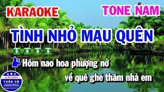Karaoke Tình Nhỏ Mau Quên | Nhạc Sống Tone Nam Beat Thịnh | Karaoke Tuấn Cò