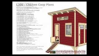 L300 - Chicken Coop Plans Construction - Chicken Coop Design - How To Build A Chicken Coop