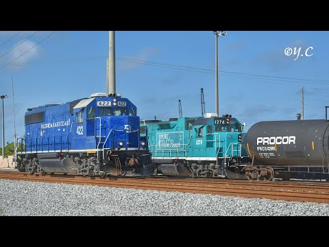 (Rare) FEC Trains 2017 at Port of Palm Beach ft. POPB Switcher, FEC 436, & GE 3000