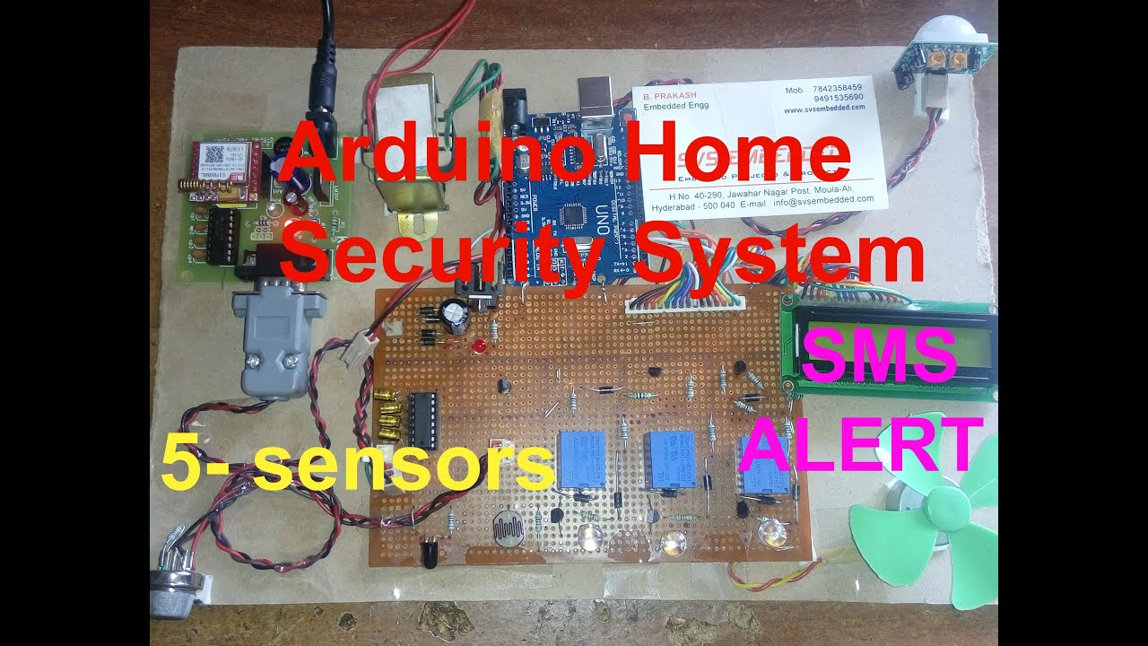 Iot projects arduino home security system youtube