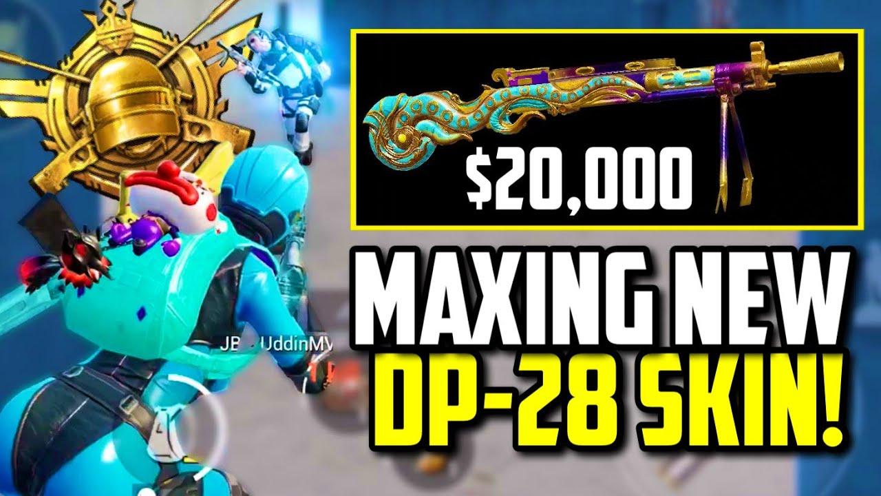 SPENDING $20,000 UC ON MAX GILDED JADE DRAGON DP-28 SKIN!! | PUBG Mobile