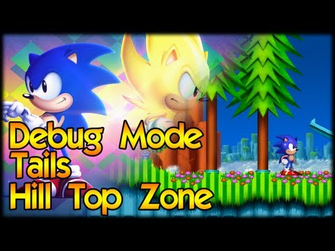 Sonic 2 HD Alpha Secrets - Debug, Tails, Hill Top Zone