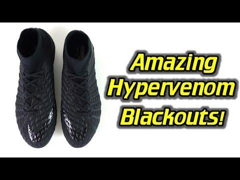 20b57f059 Black on Black! - Nike Hypervenom Phantom 3 DF (Blackout Academy Pack) -  Review + On Feet