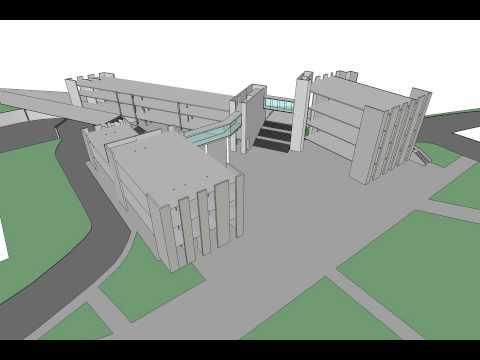 Modular Precast concrete + double skin curtain wall construction process