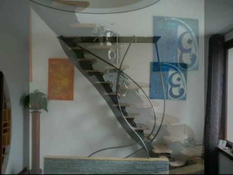 Fabrication d 39 un escalier bois et metal youtube - Fabriquer un escalier en bois ...