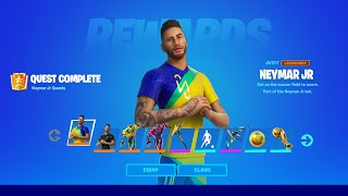 How To COMPLETE ALL NEYMAR JR CHALLENGES in Fortnite! (Secret Skin Quests)