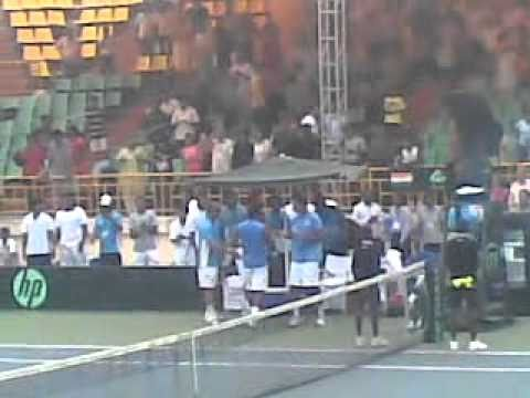Mahesh Bhupathi and Leander Pease Davis Cup 2010 Winning