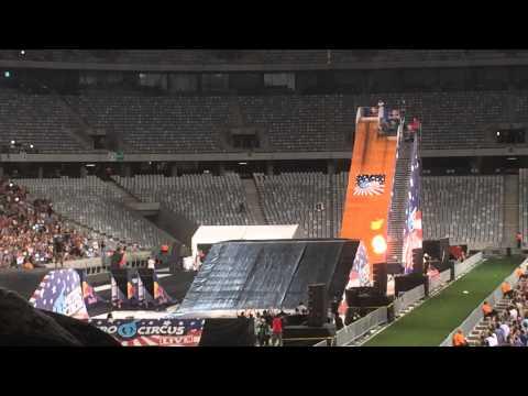"Nitro Circus: ""Wheelz"" Double Front Flip Crash (Live in South Africa)"