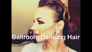 Ballroom Dancing hair tutorial- Rachel Maree Macintosh V.1