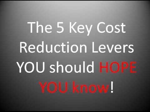 Supply Chain Cost Reduction - 5 Key Levers
