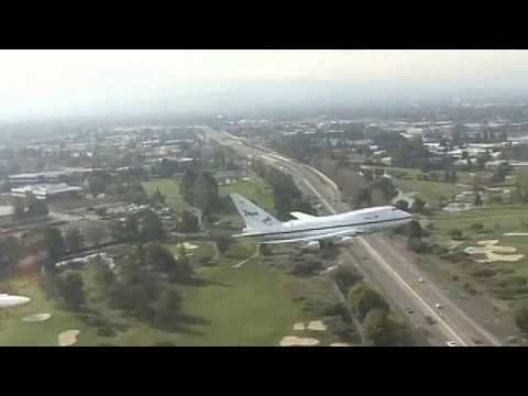 SOFIA 747SP Approach and Landing at NASA Ames Research Center