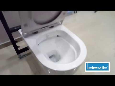 Видео объясняет устройство функции биде в унитазах компании Idevit