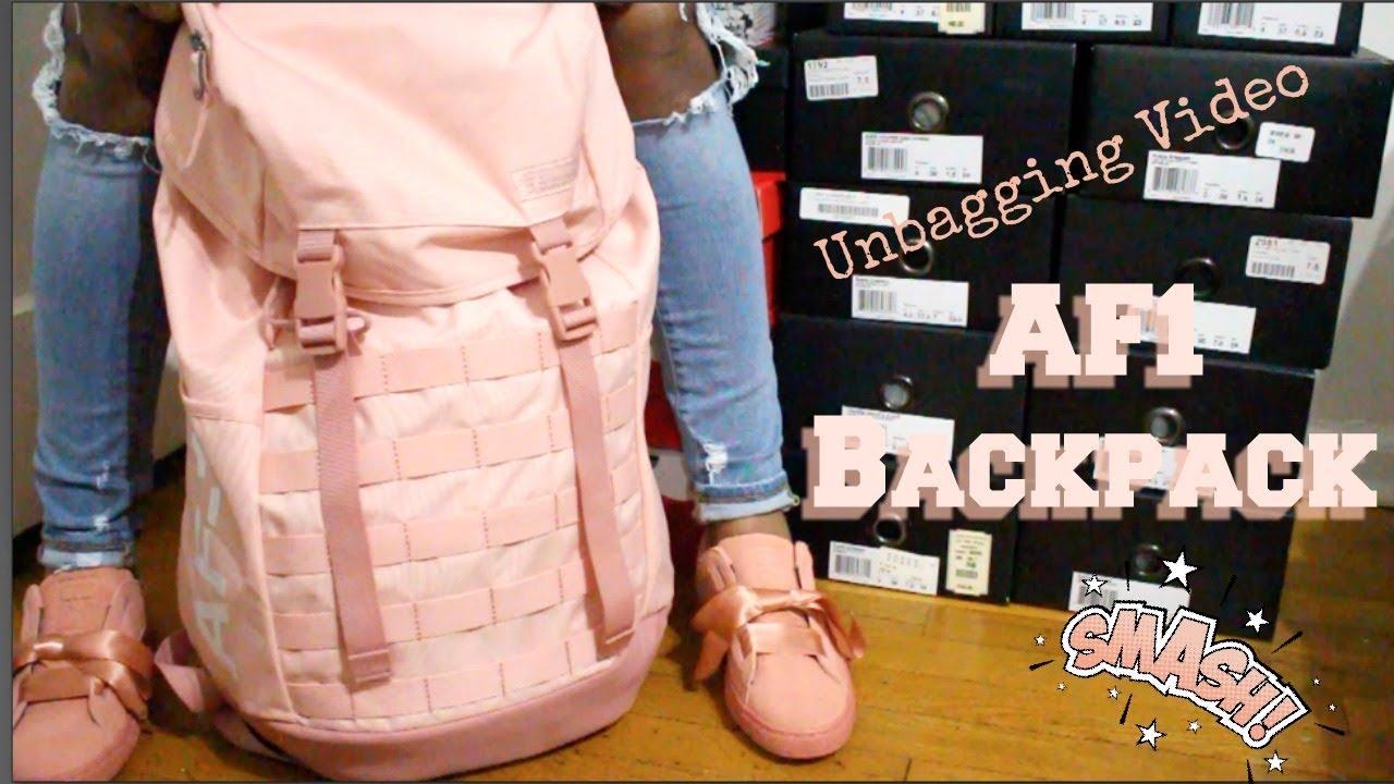 Nike AF1 Backpack Unbagging - YouTube
