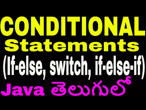 Conditional Statements In Java Telugu || If Else || Switch || If Else If