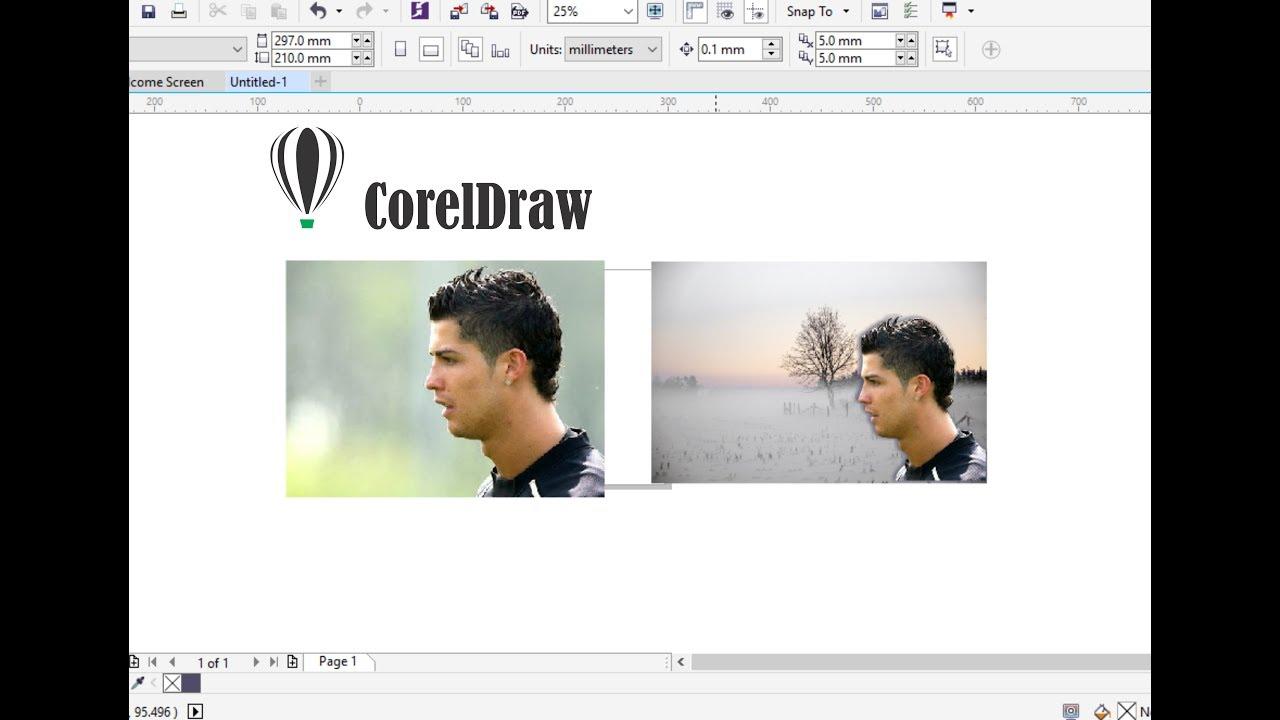 Tutorial Coreldraw Cara Memotong Gambar Dan Mengganti Background Youtube