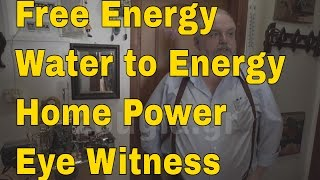 Free Energy Water to Energy Generator - Engineer Eye Witness Report