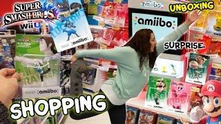 Amiibo Shopping w/ FGTEEV Mom & Chase! Surprise + Unboxing Super Smash Bros 4 WiiU - Wave 1
