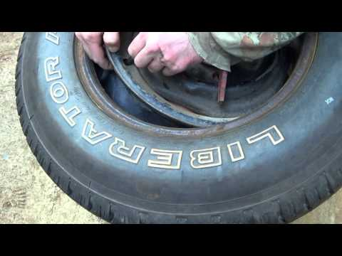 How to put an Inner tube in a Truck Tire