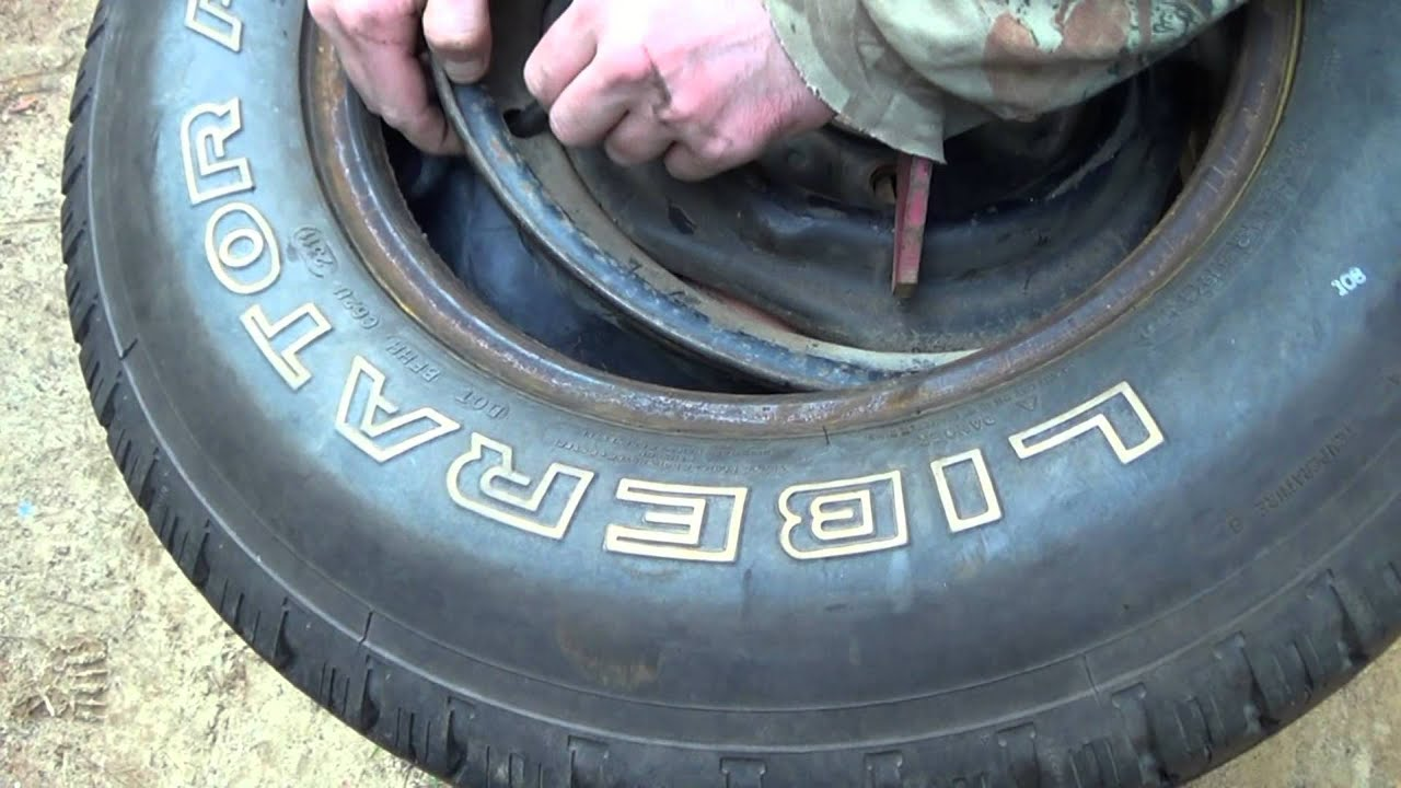 How to put an Inner tube in a Truck Tire - YouTube