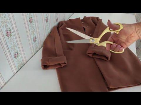 Как из старого пальто сшить модное пальто