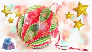 Christmas Balls made of Paper - DIY Papercraft - Christmas Ornaments 2015  Mathie