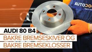 Hvordan bytte bakre bremseskiver og bakre bremseklosser på AUDI 80 B4 [BRUKSANVISNING]