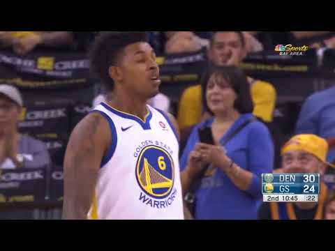 Nick Young's First 3 Pointer as a Warrior vs Denver Nuggets- NBA Preseason 2017