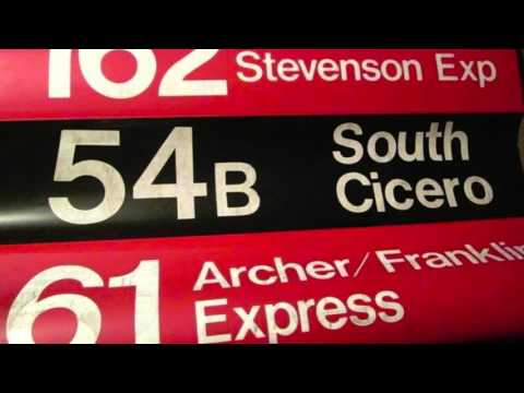 Vintage CTA Bus Stop Signs and Roll Curtains