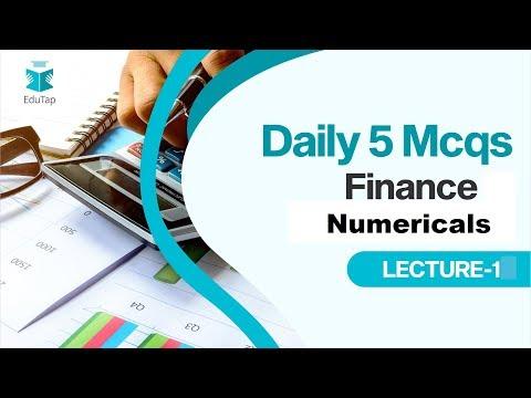 Lecture 1|5 MCQs a Day|Finance (Numerical)|RBI Gr B|SEBI Gr A|2019
