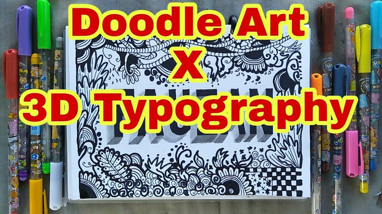 Doodle Art X 3D Typography