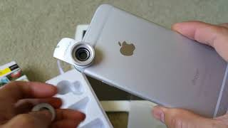 Unboxing X-LENS MOMAX 120 Wide Angle 15X Macro Superior Lens Apple iPhone iPad iPod Universal Clip!