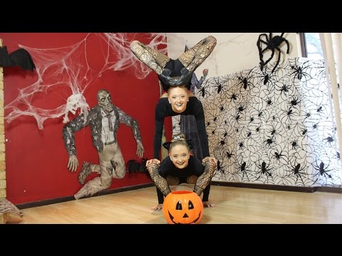 Acro Halloween Dance! | Sam and Teagan
