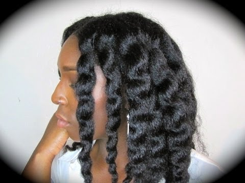 Twist Out On Blown Out Natural Hair