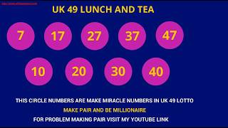 DIY Uk49s Lunchtime Predictions Wooden Plans