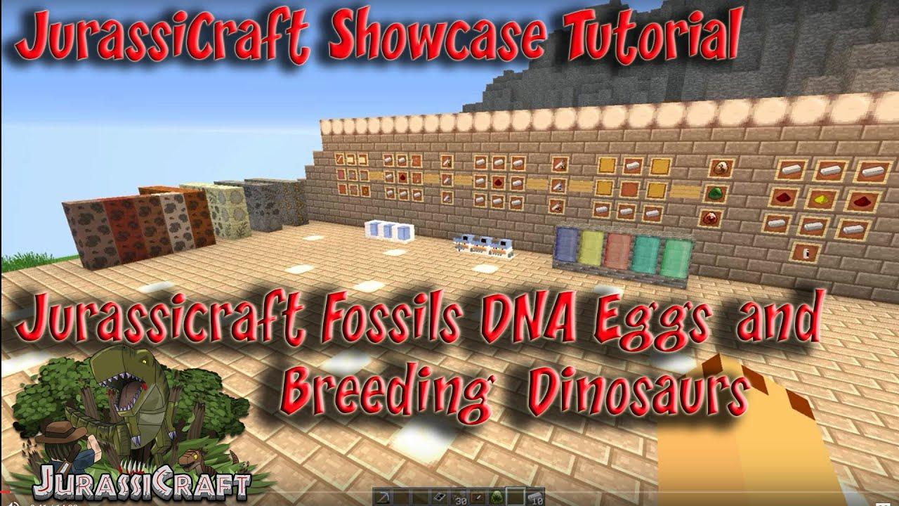 Jurassicraft 1 3 Mod Tutorial Dinosaurs from Fossils DNA Extractor DNA  Combinator Egg Cultivator