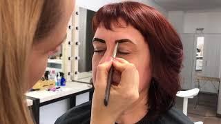 Коррекция нитью и окрашивание возрастных бровей Elan