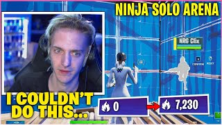 NINJA SHUTS UP Haters After He FLEXES New MECHANICS & Show NEW SKILL In Solo ARENA (Fortnite)