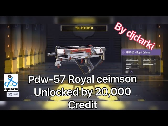 Pdw-57 Royal crimson [cost 20,000 Credit] WORTH Or not . Call of duty mobile