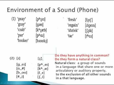 Phonology problem