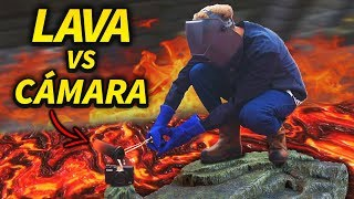 EXPERIMENTO: LAVA VS CAMARA DE VLOGS DE HOTSPANISH *mira lo que paso*